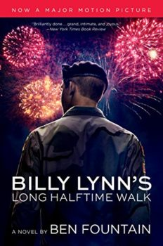 anti-war novel: Billy Lynn's Long Halftime Walk by Ben Fountain