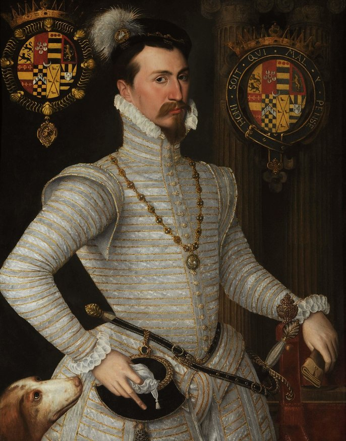 Robert (Robin) Dudley, later 1st Earl of Leicester, was a central figure in the intrigue in Queen Elizabeth's Court.