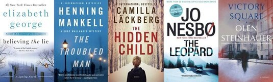 Images of 5 more books in my top 10 mystery and thriller series