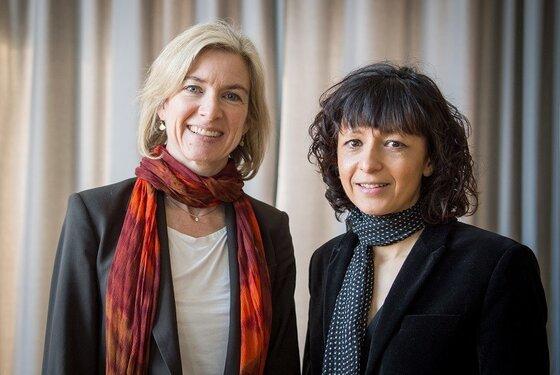 Image of Jennifer Doudna and Emmanuelle Charpentier, developers of CRISPR technology