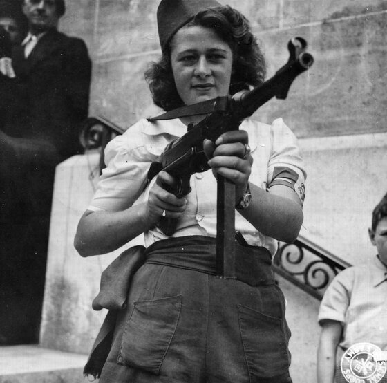 Image of a woman partisan like those portrayed in these books about the French resistance.