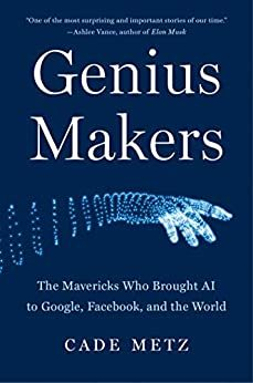"Cover image of ""Genius Makers,"" a book about AI research"