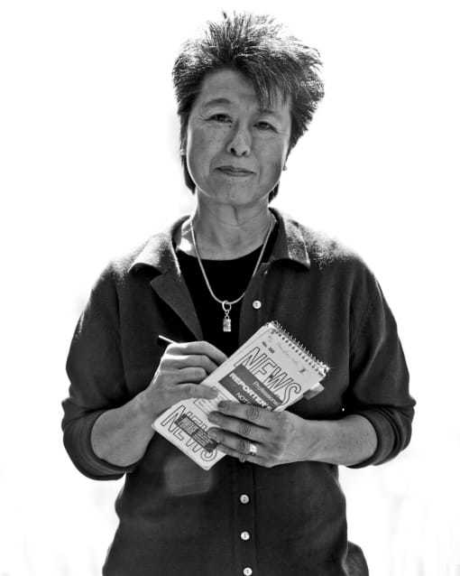 Image of Helen Zia, who wrote this book about four who fled Shanghai