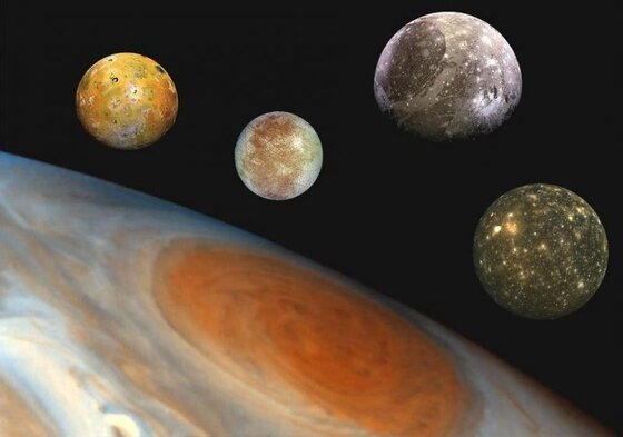 Image of the four Galilean moons
