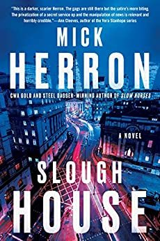 "Cover image of ""Slough House,"" a novel about British secret intelligence"