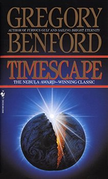 Cover image of Timescape, a novel about time travel