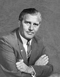 Image of Wernher von Braun, a major character in this alternate history of the space race