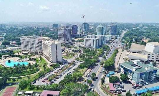 Image of downtown Accra, Ghana, where this Ghana murder mystery is set