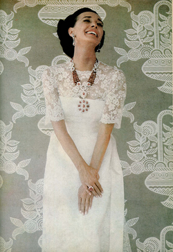 Image of the OSS spy in her wedding dress