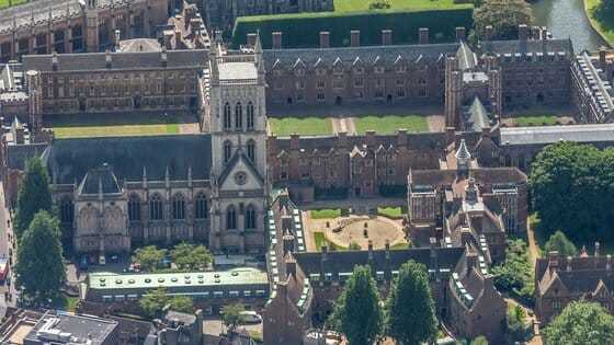 Image of Cambridge University, where the later scenes in this novel are set