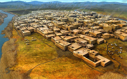 Image of one of the cities studied by archaeologists at work today