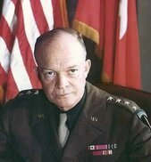 Image of Dwight Eisenhower, a central figure in the British-American alliance