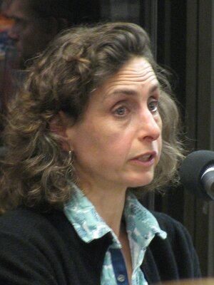 Image of Elizabeth Kolbert, author of this book about efforts to reverse the control of nature