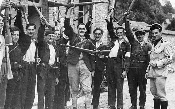Image of fighters like those portrayed in these books about the French resistance.