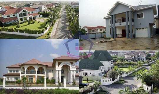 Image of houses like the one where the murder takes place in this Ghana murder mystery