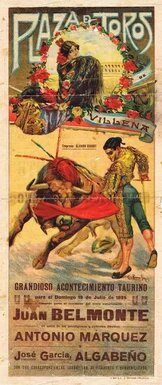 Poster for a Spanish bullfight featuring the matador who courted the OSS spy