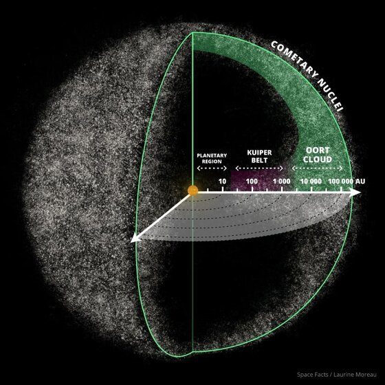 Image of the Oort Cloud, which harbors the mystery of Planet Nine.