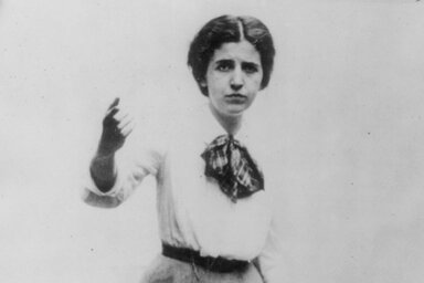 Image of Elizabeth Gurley Flynn, a star of the early American labor movement.
