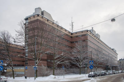 Image of Stockholm police headquarters, where the first Nordic noir series is set.